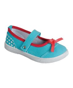Look at this PINKY FOOTWEAR Turquoise Poppy Mary Jane on #zulily today!