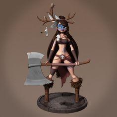 ArtStation - Barbarian Girl, Emilio Acosta