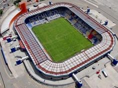 Hidalgo Stadium - Pachuca, Mexico Stadium Architecture, Architecture Design, Club Pachuca, Football Stadiums, American Football, Poker Table, Soccer, Building, Outdoor Decor