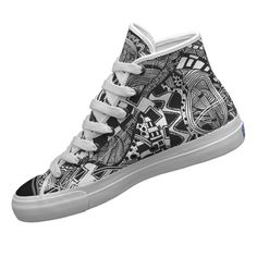 Zentangle Shoes - I want these! Doodles Zentangles, Zentangle Patterns, Top Shoes, Me Too Shoes, Doodle Shoes, Sharpie Shoes, High Top Sneakers, Shoes Sneakers, Glass Shoes
