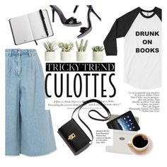 """""""Tricky Trend: Chic Culottes"""" by bookandballads ❤ liked on Polyvore featuring Edit, Allstate Floral, Mulberry, H&M, Whiteley, TrickyTrend and culottes"""