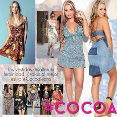 Vestidos al mejor estilo #cocoa #fashion #trendy #photooftheday #follow #followme #colors #woman #cute #tagsforlikes #beauty