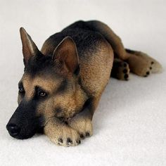 """FREE SHIPPING German Shepherd Statue Figurine. Home,Yard & Garden Decor Dog Products & Gifts Appx: 7 1/2: L x 3: W x 2 1/2"""" H (Inches)"""