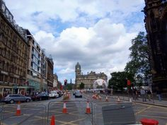 Work being carried to lay the new Tram Rails, Princes Street,Edinburgh