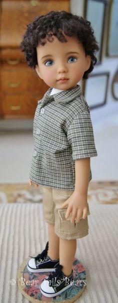 "Dianna Effner Little Darling 13"" de piel tan rara #1 Chico Muñeca por Lana Dobbs"