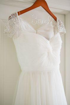 Twist-Front Reem Acra Wedding Dress