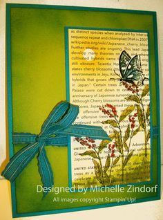 Water Colored Butterfly - MZ by Zindorf - Cards and Paper Crafts at Splitcoaststampers
