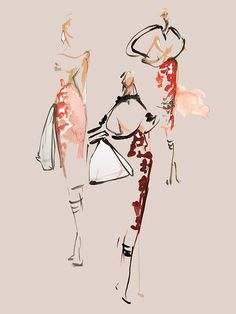 SOI sketch night | Katie Rodgers | Paper Fashion