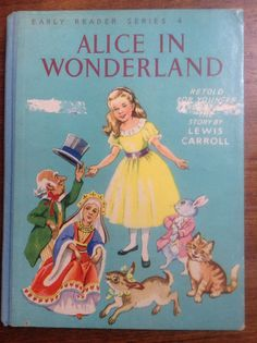 Alice In Wonderland Early Reader Series 4 c 1950s by weseatree