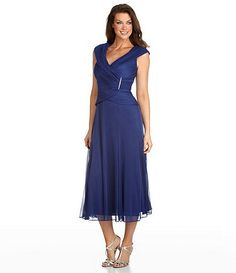 Not quite the right color, but great style.  Dillards Alex Evenings Portrait-Collar Mesh Dress