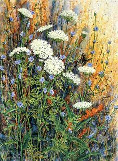 JIM GRAY Queen Anne's Lace, Chickory. http://jimgraygallery.com/