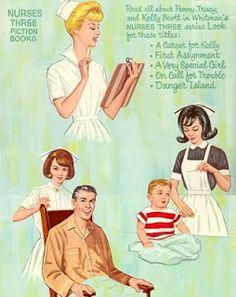 Vintage Nurses Three Paper Dolls