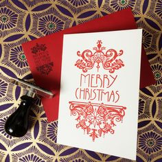 Stunning letterpress Christmas cards with filigree design - very Art Nouveau! A Bloomfield & Rolfe Christmas — Bloomfield & Rolfe #letterpress #letterpresscard #letterpresschristmascard #filigree #ornatecard
