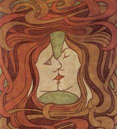 The Kiss- Art Nouveau
