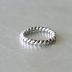 Sterling Silver Twisted Stackable Ring - kellinsilver.com