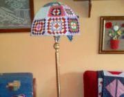 Pantalla lampara crochet - artesanum com