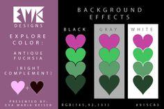 """Eva Maria Keiser Designs: Explore Color Background Effects: """"Antique Fuchsia..."""