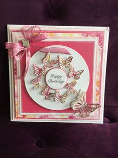 A beautiful, bling card made using the Dies by Chloe and Stamps by Chloe ranges. Get yours today and start making cards like this today! Daughter Birthday Cards, 18th Birthday Cards, Birthday Cards For Women, Handmade Birthday Cards, Female Birthday Cards, Birthday Ideas, Happy Birthday, Butterfly Birthday Cards, Butterfly Cards