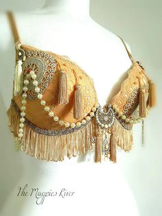 lace steampunk belly dance bra