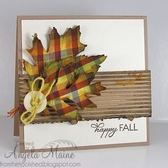 MIX30 Fabric Fall Leaves by Arizona Maine - Cards and Paper Crafts at Splitcoaststampers
