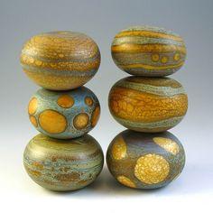 More Wonderful lampwork beads by Aja Vaz of Wandering Spirit Designs tejae set of hollows oct 21  via Flickr