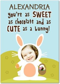 Cute Bunny Easter Cards from treat.com