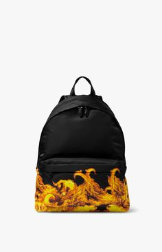 Flame Print Backpack by GIVENCHY