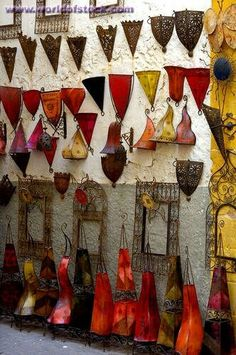 Paper lamps, Essaouira, Morocco