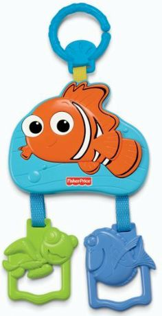Fisher-Price Disney Baby Nemo Mini Mobile by Fisher-Price. $9.99. Playful on the go mini feature characters from Finding Nemo. Large Nemo characters hangs overhead (on a stroller, car seat etc) and features two plastic teeth able characters dangling below  which when baby pulls down on them, activates tunes and sounds effects.