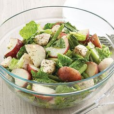 Warm Bistro Chicken Salad // Chicken, green beans, and potatoes make this delicious salad a great meal!