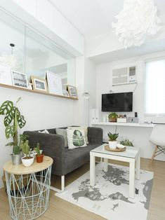 An All-White Studio Unit in Quezon City. All-White Condo in Quezon City Small House Interior Design, Small House Interior, Apartment Interior, Condo Interior, Tiny Living Rooms, Condominium Interior Design, Condo Interior Design Small, Small Condo Living, Interior Design