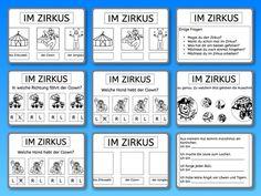 Zirkus, Wortschatz, Wahrnehmung, Lesen, Schreiben, visuelle Wahrnehmung, räumliche Wahrnehmung, Legasthenie, Eltern, Kinder, Arbeitsblatt