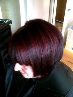 warm dark brown with red foils