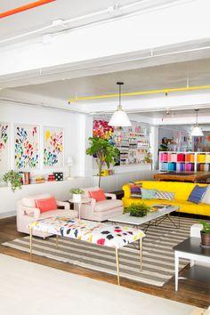 Oh Happy Day Studio - Juniper Home Home Interior Design, Interior Decorating, Colorful Interior Design, Living Room Decor, Living Spaces, Colourful Living Room, Colorful Playroom, Home Decor Inspiration, Decor Ideas