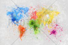 Colorful World - Fototapeter & Tapeter - Photowall