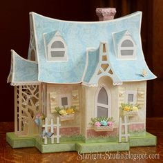 Denni's incredible paper cabin from SVGCuts #papercrafts #svgfiles