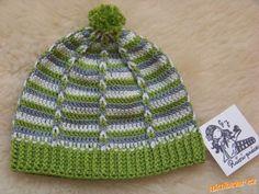 Jednoduchá čepička s protahovanými řet. očky jarní podzimní vzorek vhodný na polštářek Crochet Baby, Beanie, Knitting, Hats, Caps Hats, Blue Prints, Sombreros, Crocheting, Tricot