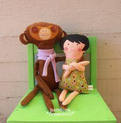 bambolina e scimmietta per Matilde