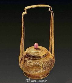 antique:Chinese traditional gold basket