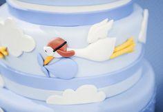 Baby Shower: Stork Chá de Bebê: Cegonha Bolo