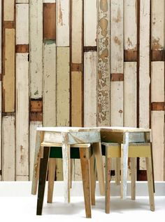 And yet another Piet Hein Eek reclaimed timber wallpaper. I just can't help it!