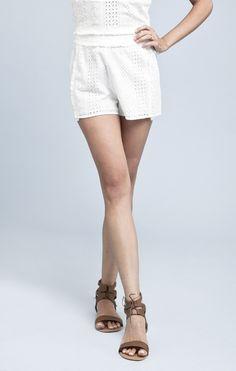 White Eyelet Shorts