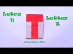 Origami - Papiroflexia. Abecedario muy fácil. Letra T
