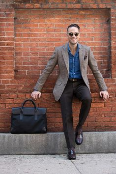 Casual Luxury: The Bennett Winch Briefcase