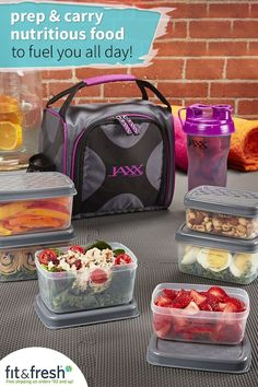Packed lunch just got stylish! Check out Fit & Fresh for trendy adult lunch bags and totes.