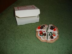 Felt Pizza!!! With removable toppings! - TOYS, DOLLS AND PLAYTHINGS