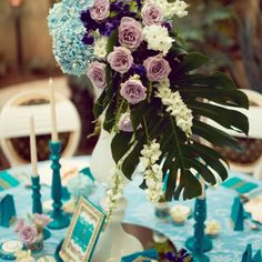 Precious Turquoise - an eclectic wedding collection, combining antique… Eclectic Wedding, Wedding Decorations, Table Decorations, Candelabra, Event Design, Wedding Designs, Dream Wedding, Hand Painted, Turquoise