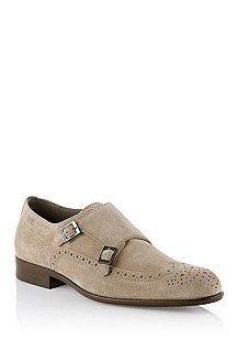 Zapatos con doble hebilla 'Brostio S' de ante, Beige