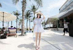 The New Sweet Temperament Seaside Holiday Lovely Princess's Strapless Dress As The Picture JY15041524.http://www.clothing-dropship.com