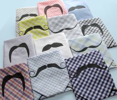 moustache hankies